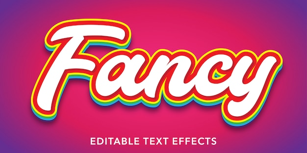Fancy editable text style effects