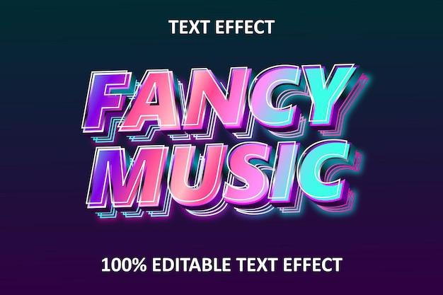 멋진 음악 편집 가능한 텍스트 효과 레인보우