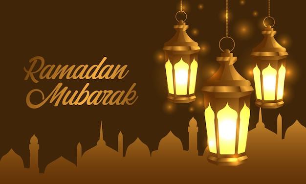 Fanous arabic lantern lamp for ramadan mubarak