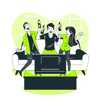 Fans concept illustration