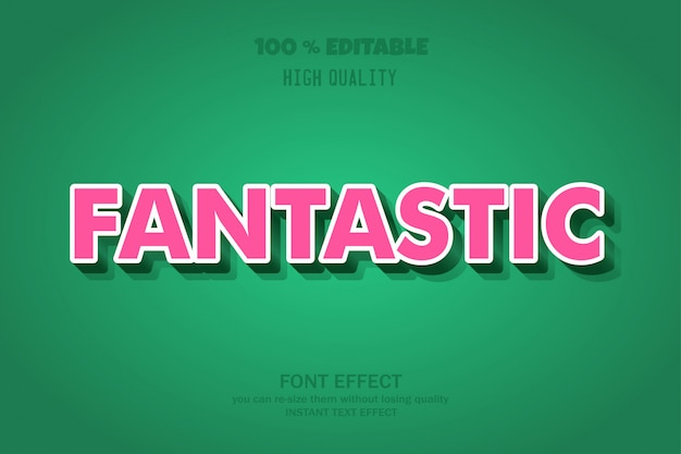 Fantastic 3d text style,