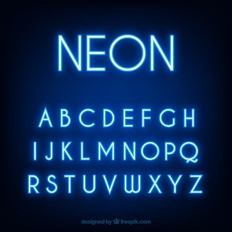 Neon font vectors photos and psd files free download fantastic alphabet of blue fluorescent tubes thecheapjerseys Gallery