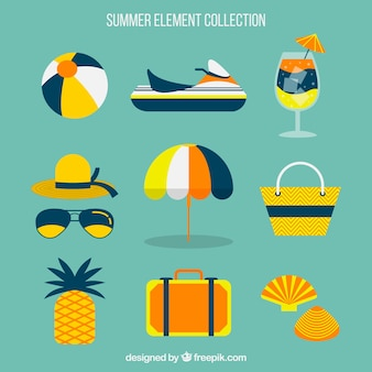 Fantastic assortment of summer elements