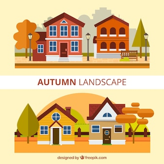 Fantastic autumnal landscapes