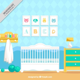 Fantastic baby room with decorative frames