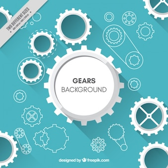 Fantastic background of gear assembly