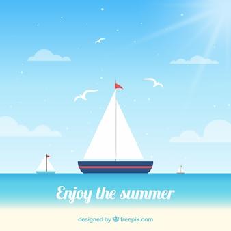 Fantastic background of sailboats
