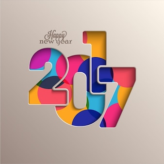 Fantastic background with colorful circles for new year