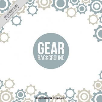 Fantastic background with gears in flat design