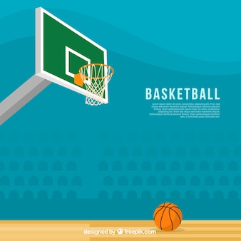 Fantastic basketball background in flat design