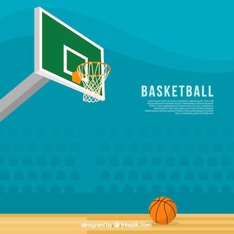 평면 디자인의 환상적인 농구 배경