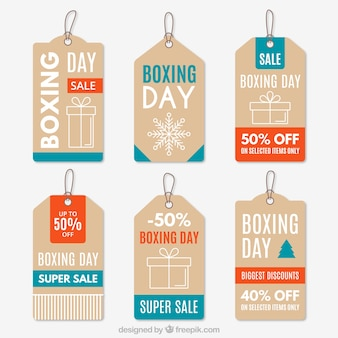 Fantastic boxing day labels with discounts