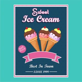 Фантастическая брошюры с мороженым для лета