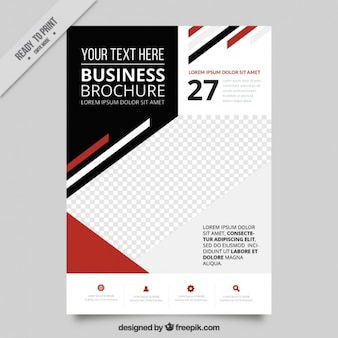 Fantastic business flyer with geometric design Free Vector