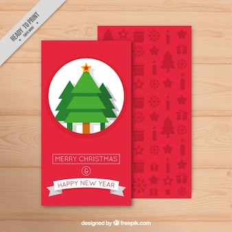 Fantastic christmas card with geometric trees