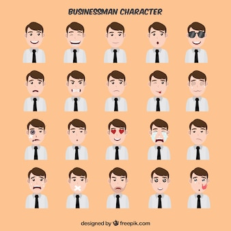 Fantastic collection of expressive businessman character