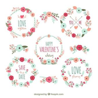 발렌타인 꽃 장식의 환상적인 컬렉션