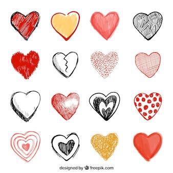 Фантастическая коллекция ручной обращается сердца