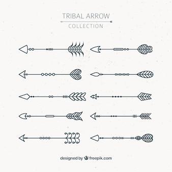 Fantastica collezione di dieci frecce d'epoca