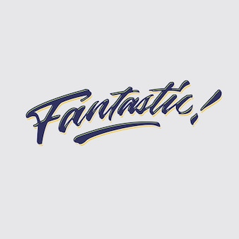 Fantastic compliment word hand lettering
