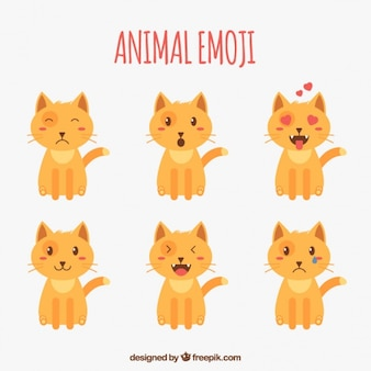 Fantastic emoji selection of cat