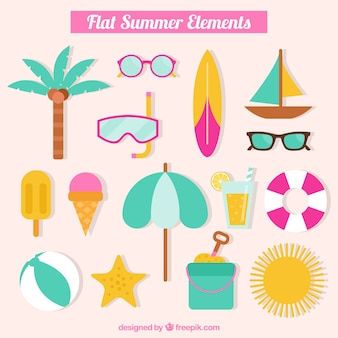 Fantastic flat summer elements
