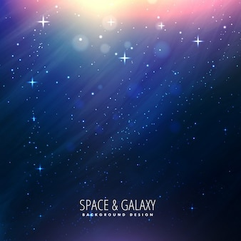 Fantastic galaxy background with lights
