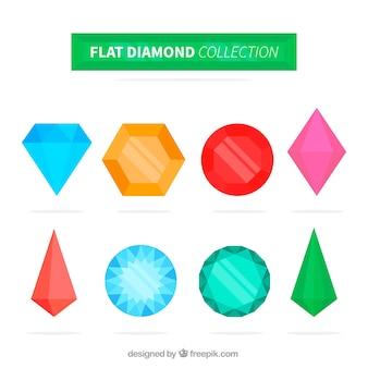Фантастические камни в плоском дизайне