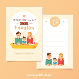 Fantastic greeting card with lovely family