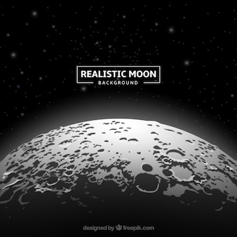 Fantastic moon background in realistic design