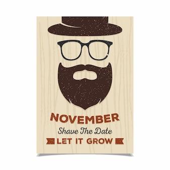 Fantastic movember poster template