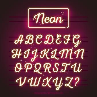 환상적인 네온 알파벳