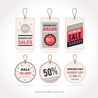 Fantastic pack of boxing day labels