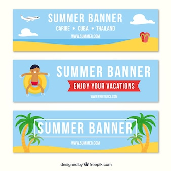 Fantastic pack of three summer banners