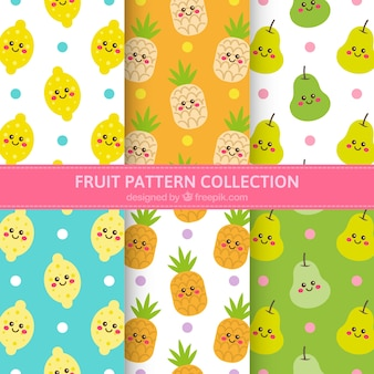 Fantastic patterns with fruit characters