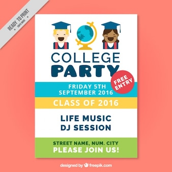 Fantastic poster for college party