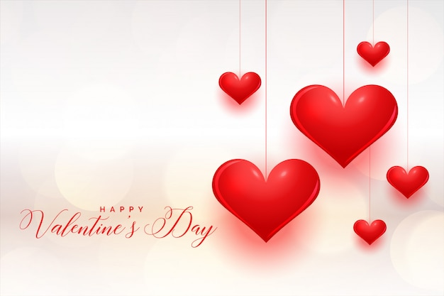 Fantastic red hearts valentines day greeting card