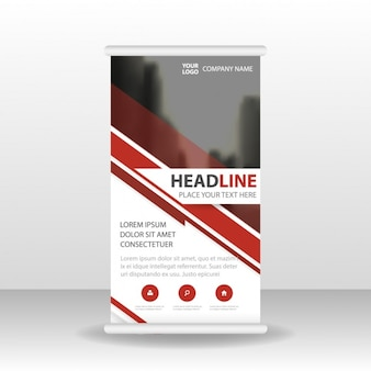 Fantastic roll up template with red lines