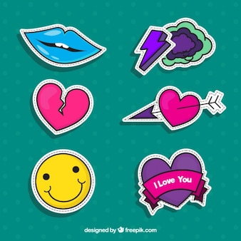 Fantastic selection of love stickers