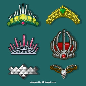 Fantastic set of crowns with different designs
