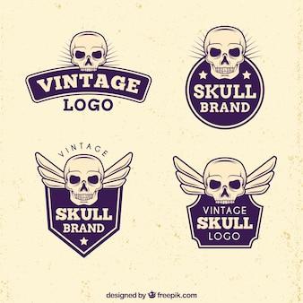 Fantastic skull logos in vintage style