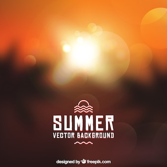 Fantastic summer background with bokeh effect