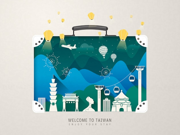 Фантастические достопримечательности тайваня - достопримечательности чемодан