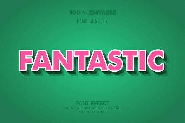 Fantastic text, editable font effect