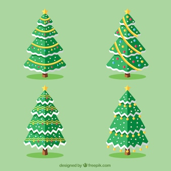 Fantastic trees with decoration for christmas