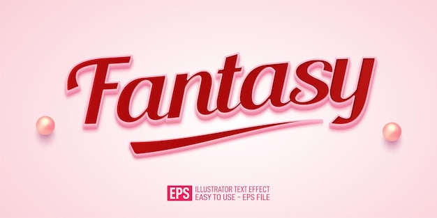 Fantasy 3d text editable style effect template