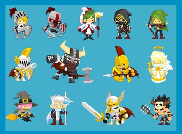 Fantasy adventure символов иллюстрация