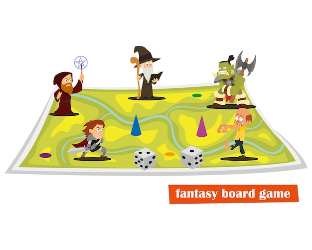 Fantasy board game.