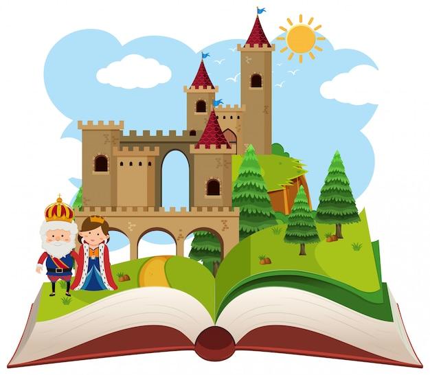 Fantasy castle pop up book
