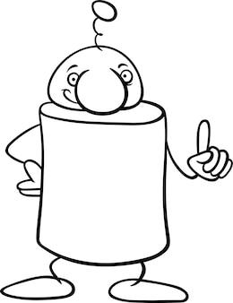 Fantasy character cartoon coloring page